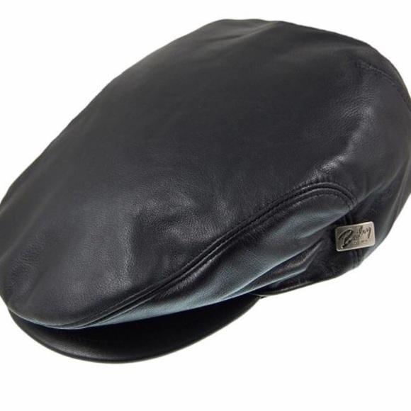 e936d0ba0ea48 Bailey Hats Men s Stockton Leather Cap- NEW